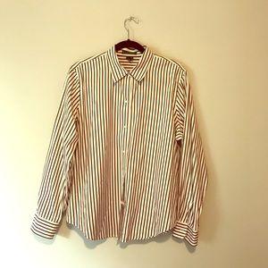 Ralph Lauren striped button up shirt blouse